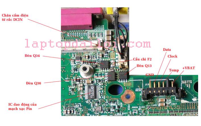 Mạch tạo ra điện áp đầu vào vint16 trên máy laptop ibm T42