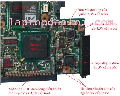 Nguồn xung tạo điện áp cấp trước 5V, 3V trên laptop IBM- LENOVO t42
