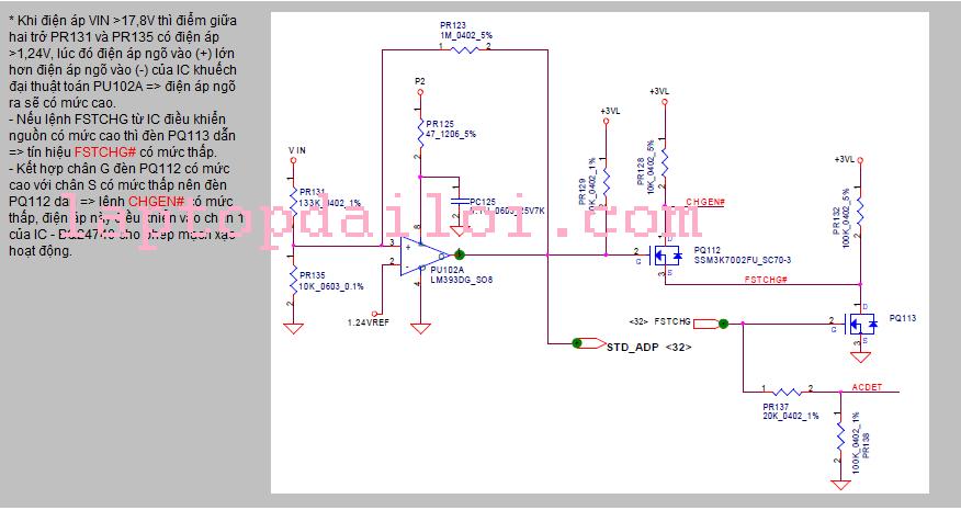 Phân tích nguyên lý mạch xạc pin DV4