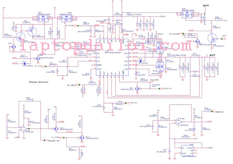 Phân tích mạch đầu vào của nguồn Vin và Batery