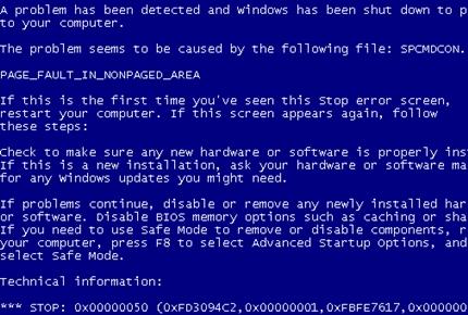 laptop lỗi màn hình xanh