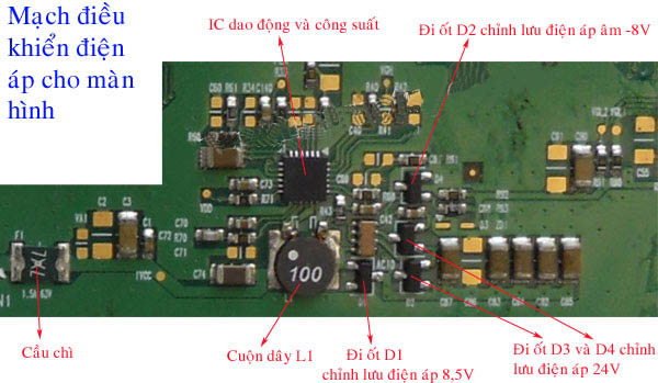 Mạch điều khiển diện áp cho màn hình LCD